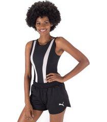 body fitness oxer vintage - feminino - preto/rosa cla