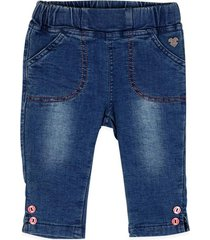 jeans jogg pull on botones denim pillin