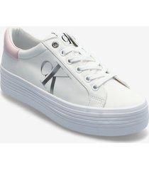 vulcanized flatform laceup ny sneakers skor vit calvin klein