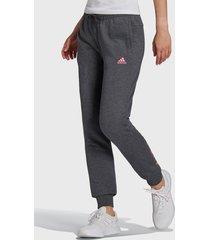 pantalón de buzo adidas performance w lin ft c pt gris - calce regular