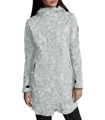 women's canada goose salida waterproof rain jacket, size small (4-6) - blue