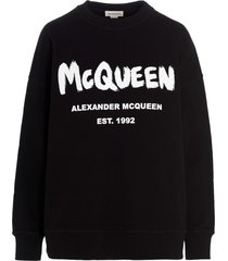 alexander mcqueen logo sweatshirt