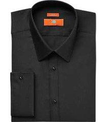 egara orange black extreme slim fit french cuff dress shirt