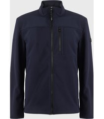 chaqueta calvin klein azul - calce regular