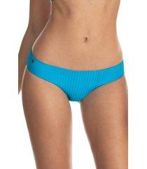 women's maaji sublime bluejay reversible bikini bottoms, size large - blue