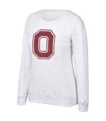 top of the world women's ohio state buckeyes flip sequin crew sweatshirt