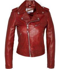 leren jas schott veste perfecto lcw1601d sans ceinture rouge
