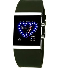 reloj en forma de corazón a prueba de agua-verde