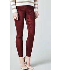 aksamitne spodnie skinny