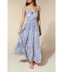 calzedonia long dress woman blue size s