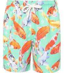 short masculino peixes - verde