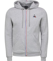 sweater le coq sportif essentiels full zip hoody
