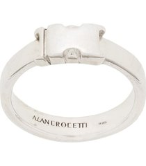 alan crocetti buckle detail ring - silver