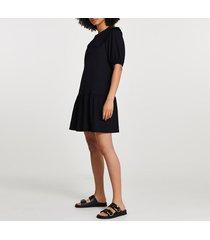 river island womens black collared tiered mini dress
