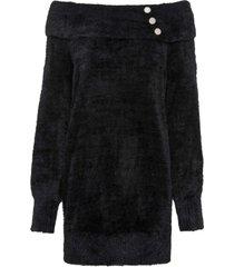 maglione soffice con collo a ciambella (nero) - bodyflirt