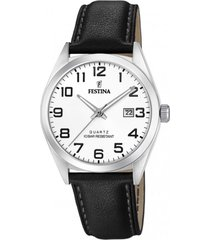 reloj acero clasico negro festina
