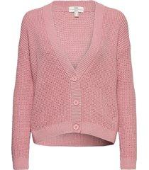 sweaters cardigan stickad tröja cardigan rosa edc by esprit