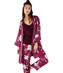 bata kimono corta saten flores multicolor women secret 363515598l