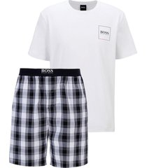 pyjama met logo en bermuda model urban short set - 50450074