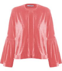 casaqueto veludo isabella fiorentino para oqvestir - rosa