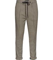 houndstooth pant with pintuck casual broek vrijetijdsbroek beige scotch & soda
