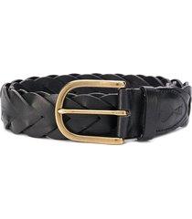 ami paris braided belt - black