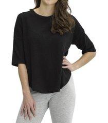 hue women's 3/4 sleeve pajama shirt