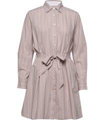 barbara short stripe korte jurk roze line of oslo