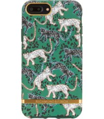 richmond & finch green leopard case for iphone 6/6s plus, 7 plus and 8 plus