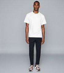 reiss buxton - oversized crew neck t-shirt in ecru, mens, size xxl