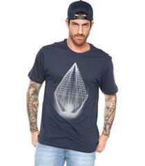 camiseta manga curta volcom yarn azul-marinho