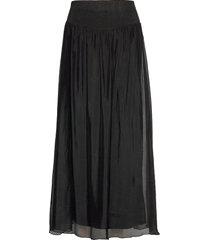 long skirt w. jersey waistband lång kjol svart coster copenhagen