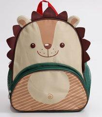 mochila infantil unissex escolar listrada leão clio