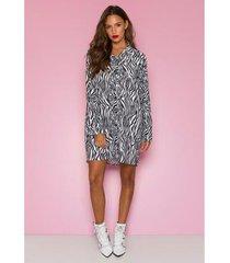 camisão vestido sislla branda animal print feminino
