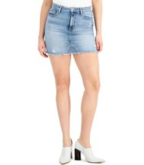 guess rue denim mini skirt