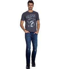 t-shirt broken guess - cinza - masculino - dafiti