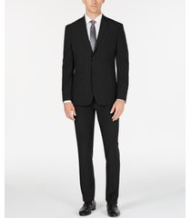 perry ellis premium men's slim-fit stretch tech suit