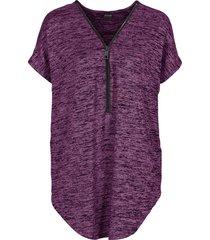 maxi maglia con cerniera (viola) - bodyflirt