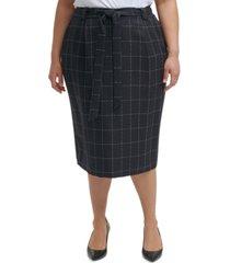 calvin klein trendy plus size pencil skirt