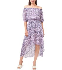 vince camuto floral-print high-low dress
