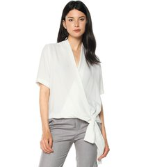 blusa blanco hueso mng