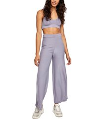 women's free people show off cropped tank and pant set, size x-large - grey