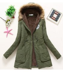 winter coat women new army green parka casual outwear military hooded thickening