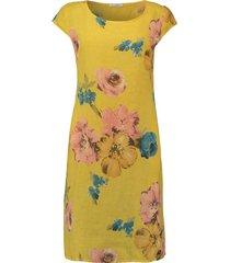 jurk summer flower geel