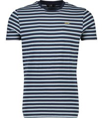 vanguard t-shirt navy blauw gestreept