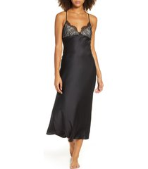 women's rya collection graceful charmeuse & lace nightgown