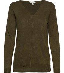 bymalea v neck jumper - stickad tröja grön b.young
