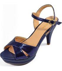 sandalia tacón azul versilia rusia