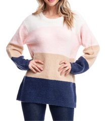 fever colorblocked oversized sweater