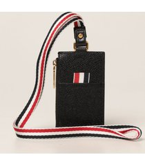 thom browne wallet thom browne credit card holder in grained leather